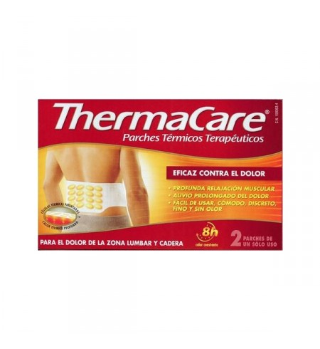THERMACARE PARCHE TERMICO ZONA LUMBAR CADERA  2 PARCHES