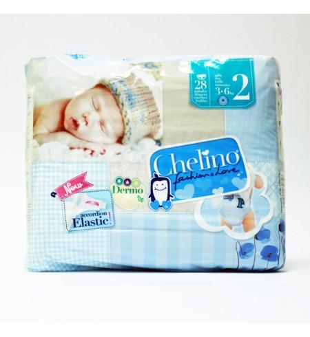 PAÑAL INFANTIL CHELINO FASHION & LOVE T- 2 (3 - 6 KG) 28 PAÑALES