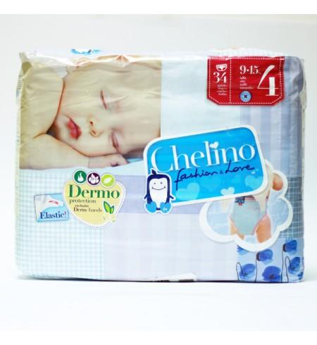 PAÑAL INFANTIL CHELINO FASHION & LOVE T- 4 (9 - 15 KG) 36 PAÑALES