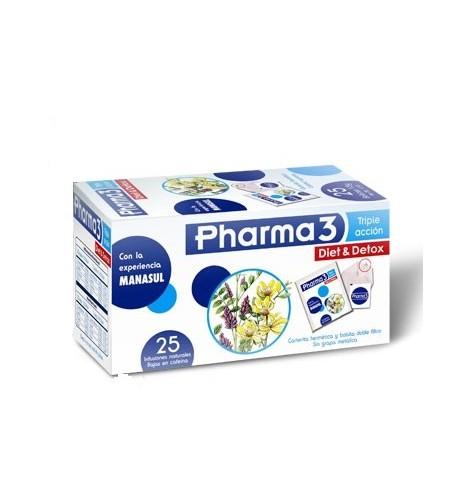 PHARMA3 DIET & DETOX  25 FILTROS 1,5 G