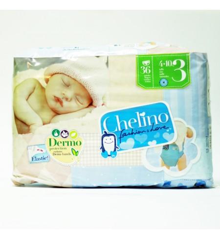PAÑAL INFANTIL CHELINO FASHION & LOVE T- 3 (4 - 10 KG) 36 PAÑALES