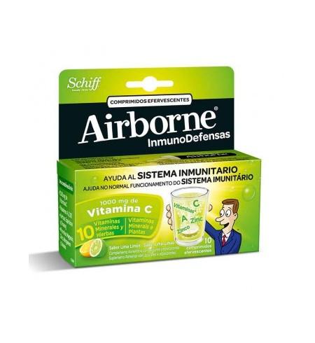 AIRBORNE (INMUNODEFENSAS)  10 COMPRIMIDOS EFERVESCENTES SABOR LIMON