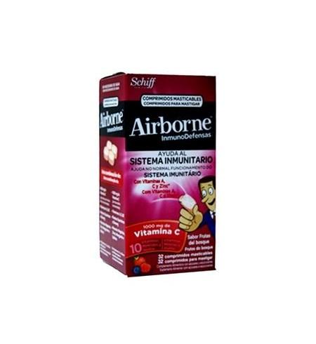 AIRBORNE (INMUNODEFENSAS)  32 COMPRIMIDOS MASTICABLES SABOR FRUTOS DEL BOSQUE