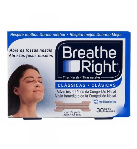 BREATHE RIGHT CLASICAS TIRA ADH NASAL 30 UNIDADES