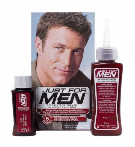 JUST FOR MEN CHAMPU COLORANTE 1 ENVASE 66 ML TONO CASTAÑO OSCURO
