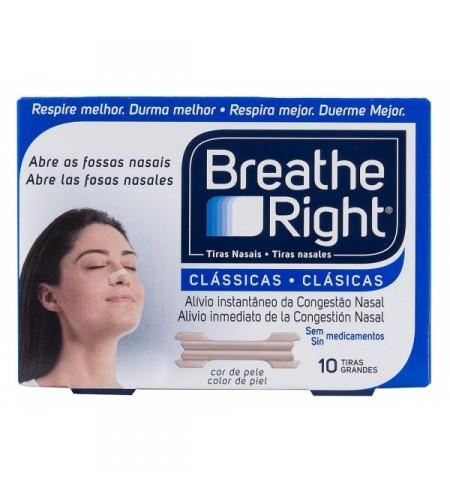 BREATHE RIGHT CLASICAS TIRA ADH NASAL 10 UNIDADES
