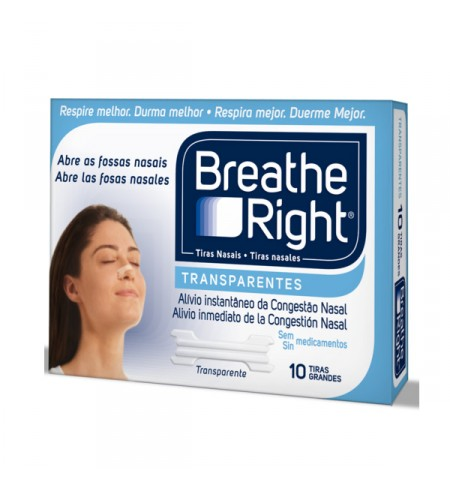 RHINOMER BY BREATHE RIGHT TIRA ADH NASAL TRANSPARENTES 10 U