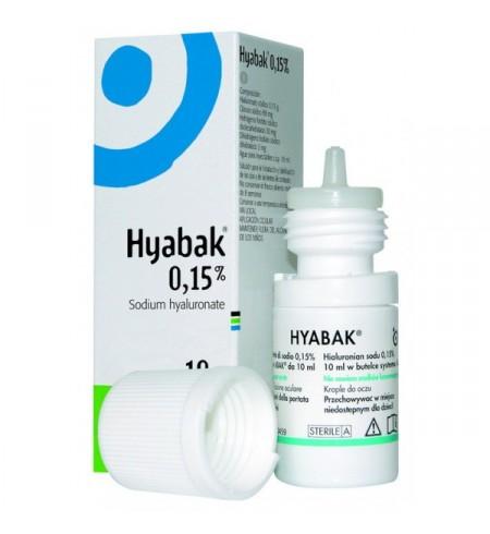 HYABAK 0.15% SOLUCION HIDRATANTE LENTES DE CONTACTO 1 ENVASE 10 ML